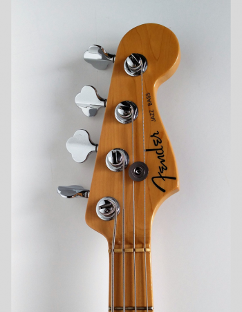 Fender Jazz deluxe Chrome Red front head