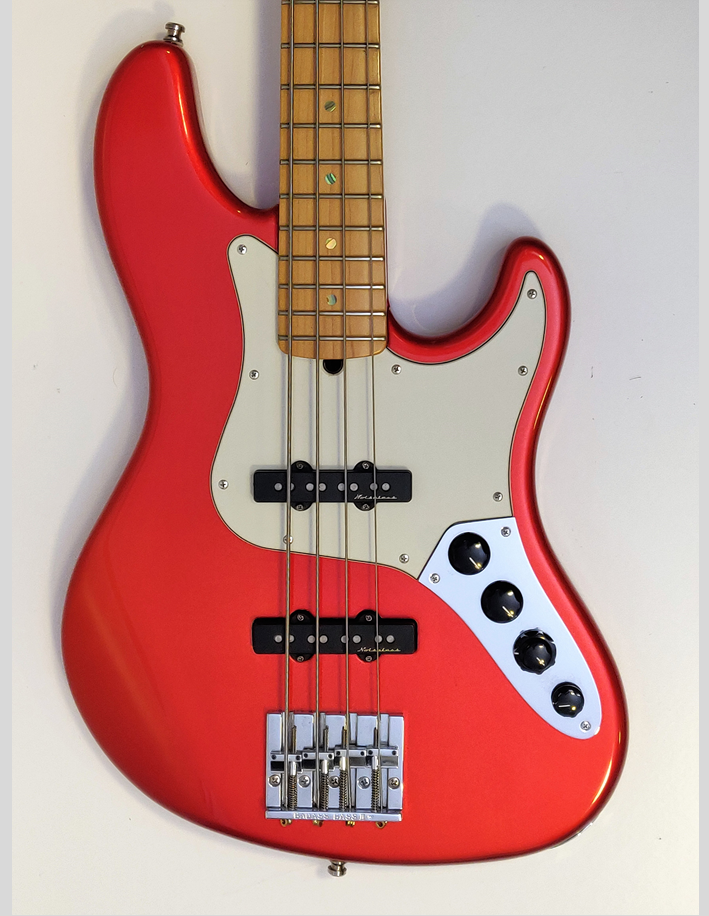 Fender Jazz deluxe Chrome Red front