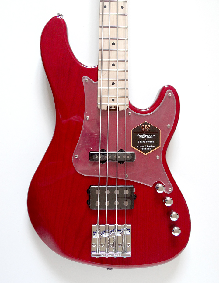 Cort GB74 JH Trans Red Bass Guitar